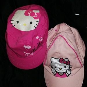 2 Hello Kitty hats